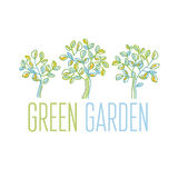 Green tree design element Stock Photography