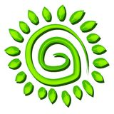 Green Tree Earth Symbol Spiral vector illustration