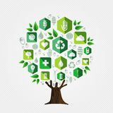 Green tree for environment and ecology concept vector illustration