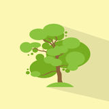 Green Tree Flat Eco Icon Vector Royalty Free Stock Image