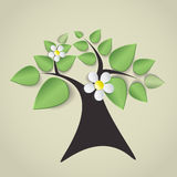 Green tree with flowers Royalty Free Stock Images