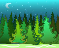 green tree forest design. Stock Images