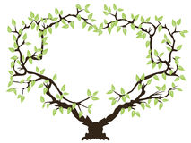 Green tree frame Royalty Free Stock Image