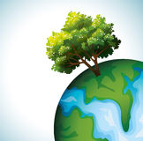 Green tree and globe. Stock Images
