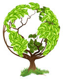 Green Tree Globe Earth World Concept Stock Photos