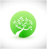 Green tree graphic eco concept isolated. Over a white background Royalty Free Stock Images
