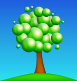 Green Tree on Green Meadow Royalty Free Stock Image
