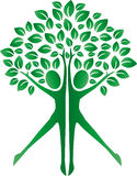 Green tree human bodies logotype Stock Photos