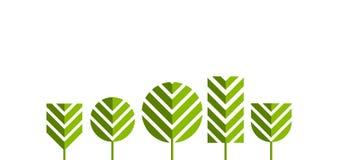 Green tree icons Royalty Free Stock Photos