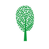 Green tree. Isolated On White Background, Vector Illustration Royalty Free Stock Photo