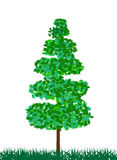 Green tree. Isolated on white. Vector Illustration royalty free illustration