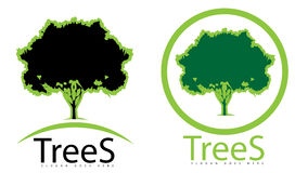 Green tree logo Stock Photos