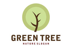 Green tree logo Royalty Free Stock Photography