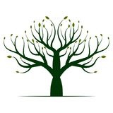 Green Tree Logo Icon royalty free illustration