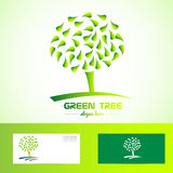 Green tree logo Royalty Free Stock Photo