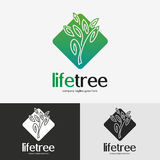 Green tree logo. Stock Image
