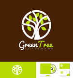 Green tree nature logo design Stock Images