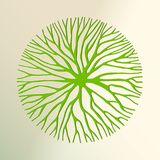 Green tree paper cut for environment concept. Tree top view made in green paper cut out style. Nature concept, Environment help or earth care. EPS10 vector royalty free illustration