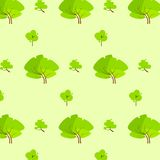 Green tree pattern eco icon vector Royalty Free Stock Photos