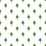 Green tree pattern Royalty Free Stock Images