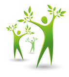 Green tree peope vector illustration