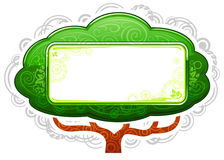 Green Tree Placard Stock Photography
