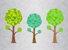 Green Tree polygon vector illustration Royalty Free Stock Photo