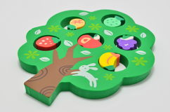 Green Tree Rubber Eraser Royalty Free Stock Images
