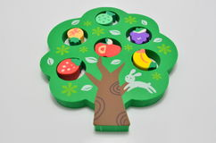 Green Tree Rubber Eraser royalty free stock photos