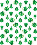 Green tree seamless background Stock Photo