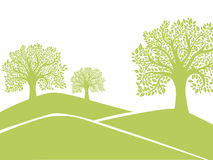 Green tree silhouette Royalty Free Stock Photo