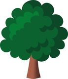 Green tree. The green tree is vector illustration Royalty Free Stock Photos
