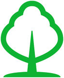 Green tree vector illustration Stock Images