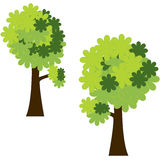Green trees. Vector clipart of green trees with stylised leaves royalty free illustration