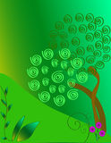 Green trees. Of inspiration for conservation of a healthy earth vector illustration