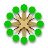 Green Trees Circle of Life Vector Icon Stock Image