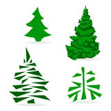 Green trees on a light background. Set of green trees on a light background Vector Illustration