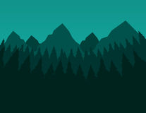 Green Trees and Mountains Royalty Free Stock Photography