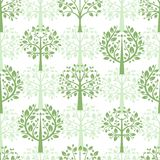 Green trees seamless pattern background royalty free illustration