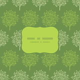Green trees stripes seamless frame pattern Royalty Free Stock Photography