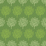 Green trees stripes seamless pattern background Stock Image