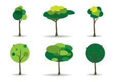Green Trees Vector Illustration Stock Photos