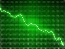 Green trend as recession symbol or financial crisis. Business concept Stock Image