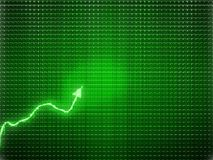 Green trend as success symbol or financial growth. Useful for analytics Stock Photography