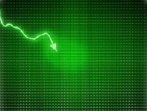 Green trend as symbol of economy drop or financial crisis. Large size Stock Photos