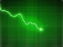 Green trend graph as symbol of business contraction. Or financial crisis Stock Image
