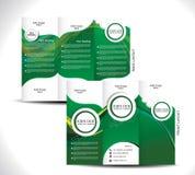 Green Tri Fold Brochure Design Stock Images