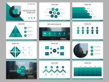 Green triangle Bundle infographic elements presentation template. business annual report, brochure, leaflet, advertising flyer,. Corporate marketing banner royalty free illustration