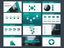 Green triangle Bundle infographic elements presentation template. business annual report, brochure, leaflet, advertising flyer,. Corporate marketing banner Royalty Free Stock Photos