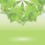 Green triangle crystal horizontal Stock Photo